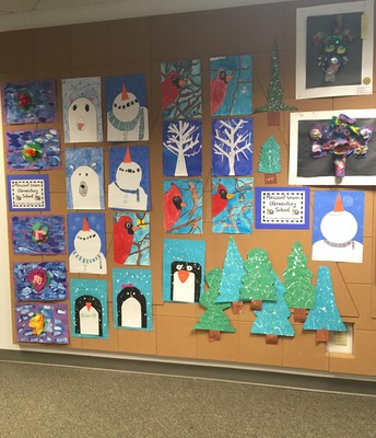 Students Artwork Posted at Central Office in Cary
