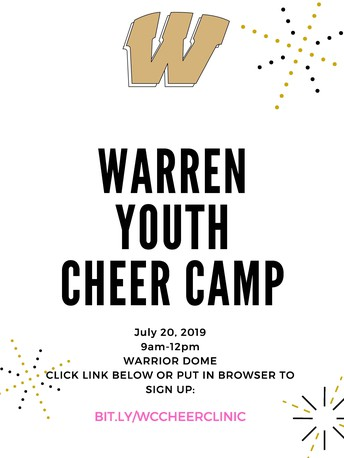 Warren Youth Cheer Camp