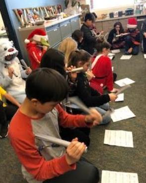 Music class bells Holiday mini concert