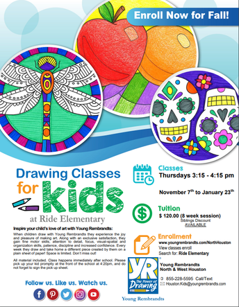 Drawing  Classes for Kids at Ride