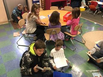 Kindergarten and 4th Grade Reading Buddies