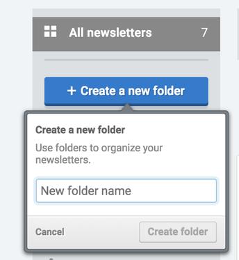 "2. Select ""Create a new folder"""