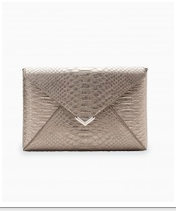 City Slim Clutch - Pewter Exotic