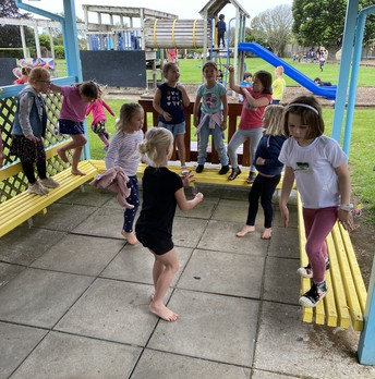Lunchtime disco at the Junior school