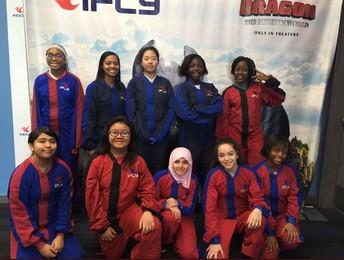 Girls In STEM Visit iFly Houston