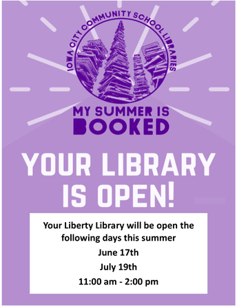 Summer Hours for the Liberty Library