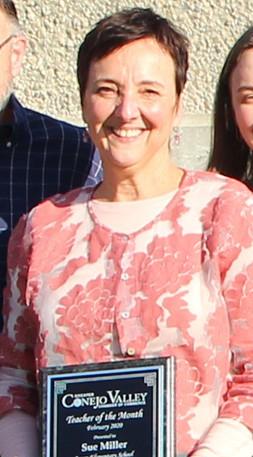 Congratulations Sue Miller of Aspen Elementary – CVUSD's February Teacher of the Month!