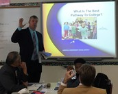 Mr. Plunkett presenting to the MoDs.
