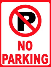 No parking in band lot