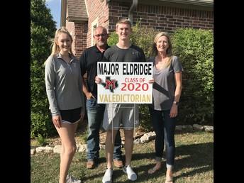 -- Major Eldridge --       MHS 2020 Valedictorian