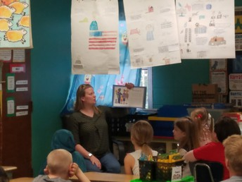 Officer Vicky Read to every grade level on Tuesday