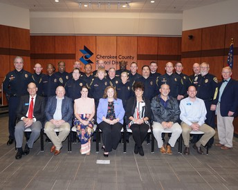 CCSD Police Honored for 20 Years of Service