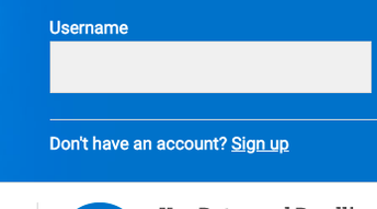 """Be sure to click """"sign UP"""""""