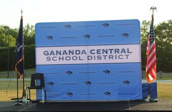Gananda Central Schools Graduation Stage