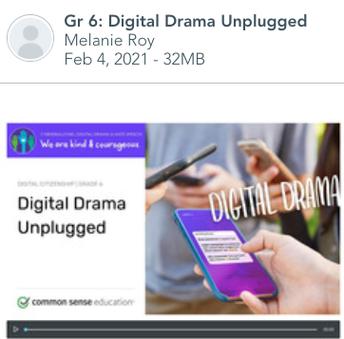 Gr 6: Digital Drama Unplugged