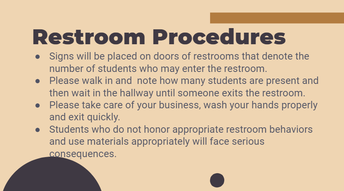 Restroom Procedures