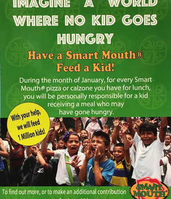 Smart Mouth Pizza wants to feed a MILLION kids!