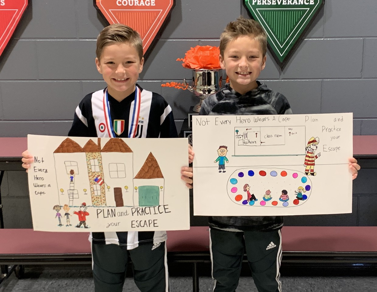 Jake and Aiden Fire Prevention Contest Winners