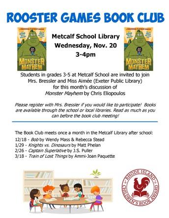Rooster Games Book Club @ Metcalf School