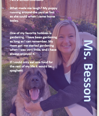 Ms. Besson, Counselor
