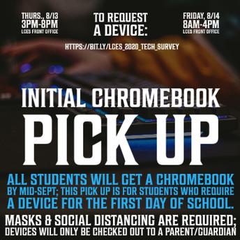 Initial Chromebook Pickup