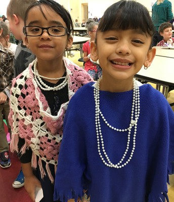 They sure have aged well!  100 years old on the 100th Day of school.
