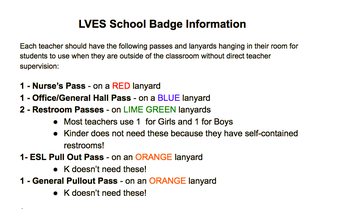 A Message from the Safe and Civil Committee -LVES School Badge Information