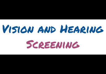 Vision & Hearing Screening - Correct dates