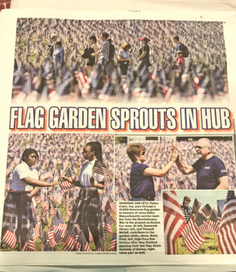 Samarrah and Timandi on the front page of the Boston Herald