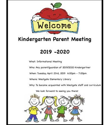 Kindergarten Parent Meeting