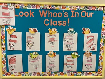 Owl Class - Cat in the Hat Directed Drawing