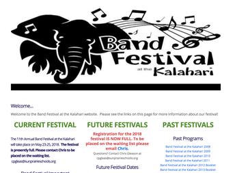 Band Festival Website