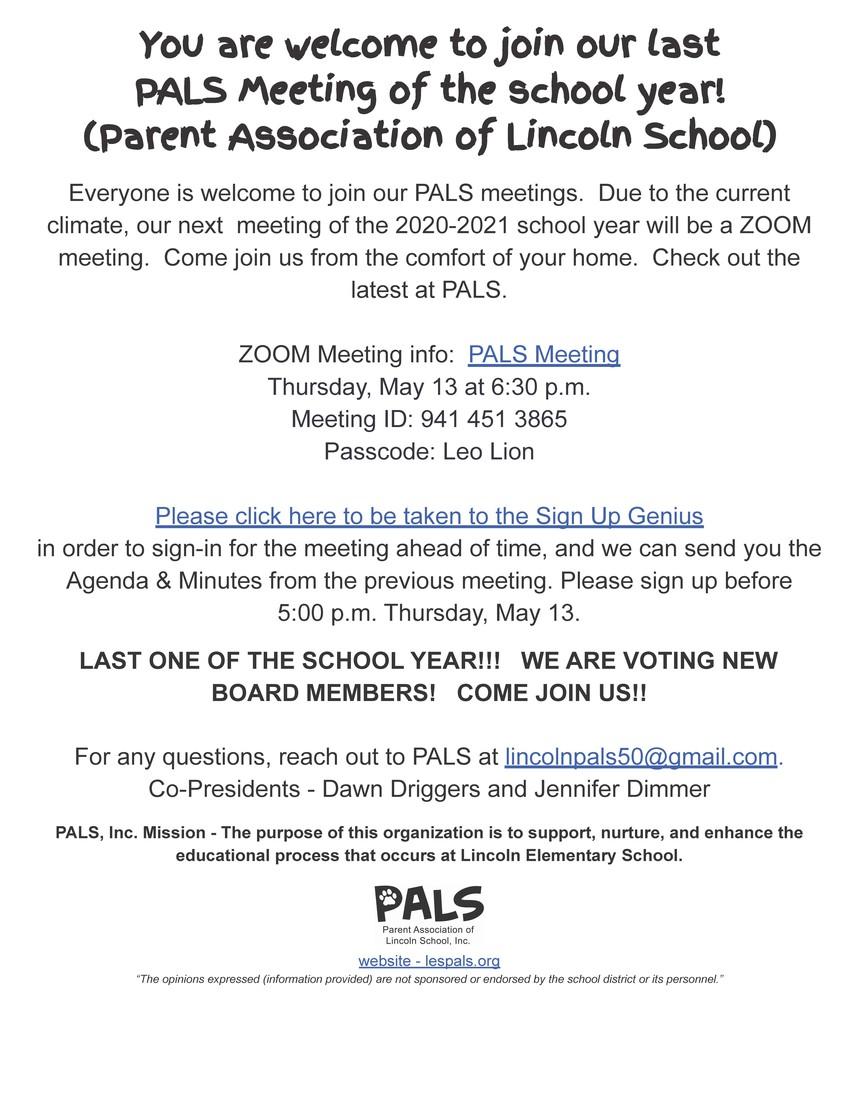 PALS Meeting