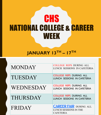 College and Career Week - 1/13 through 1/17