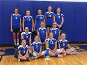 GIRLS B TEAM VOLLEYBALL EARNS 2ND PLACE!