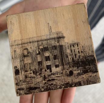 Photo transfers on wood