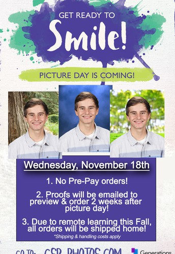 SAVE THE DATE - Picture Day is Nov. 18th