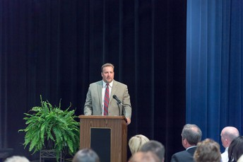 Superintendent Snell Addresses the Crowd