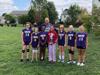 CONGRATULATIONS MIDDLE SCHOOL VOLLEYBALL TEAM!