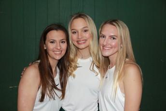 Silliman Tennis Seniors Connor McKnight, Jillian Stringer and D'lane Stevens