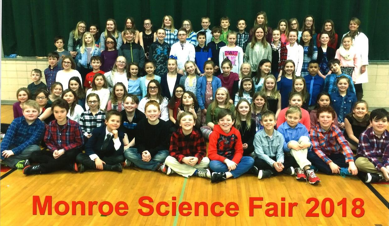 2018 Monroe Science Fair participants