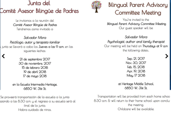 BILINGUAL PARENT ADVISORY