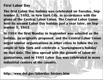 First Labor Day