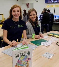 Work with a STEM Ambassador like Abbe Stiglich and Adriana Puleo, pictured here
