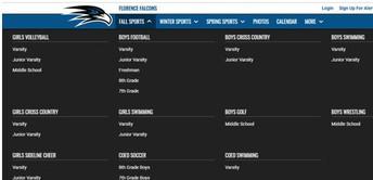 NCAA / Athletic Options