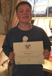 Tyler Gillum Receives Presidential Award!