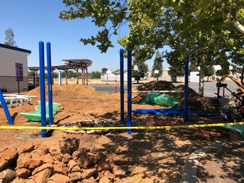 Our New Play Structure Begins to Go Up!
