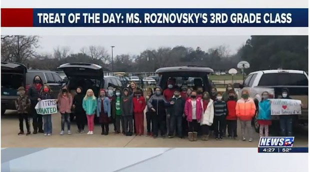 Treat of the Day: Brenham ISD 3rd graders help winter storm recovery