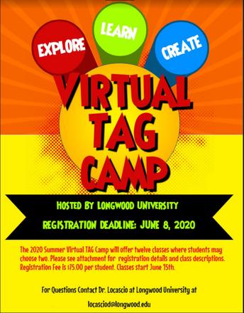 Longwood Region VIII Virtual TAG Summer Camp