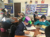 5th grade working hard/5to grado trabajando duro